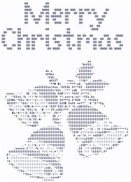 Ascii Images Comments, Graphics and Greetings Codes for Orkut, Friendster, Myspace, Tagged