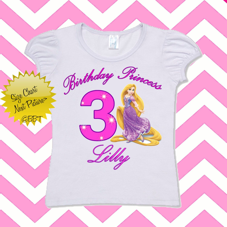 Disney Princess Birthday Shirt Personalized Rapunzel