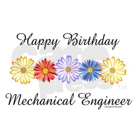 Mechanical Engineer Birthday Blank Greeting Card