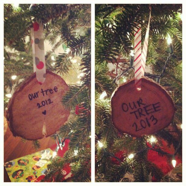 DIY Christmas tree ornament.