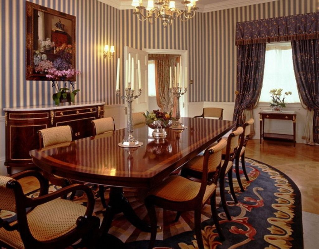 Formal dining room decorating ideas adorable cool white and black wall - Formal Dining Room Furniture