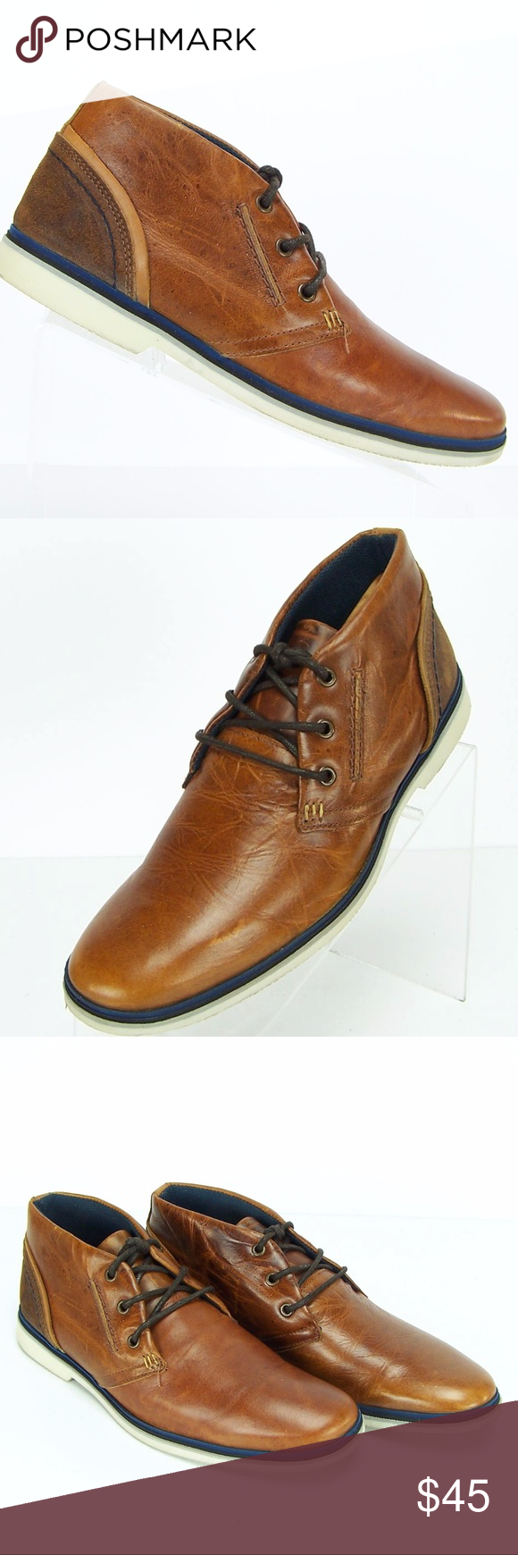 d127aecd71f Aldo Bellini Shoes Men Brown Leather Chukka Boots Aldo Bellini Shoes ...