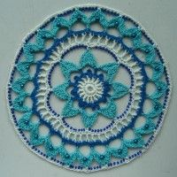 Crochet Mandala Wheel made by Nadja, Slovenia, for yarndale.co.uk