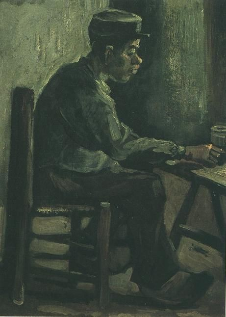 'Peasant Sitting at a Table' Vincent Van Gogh