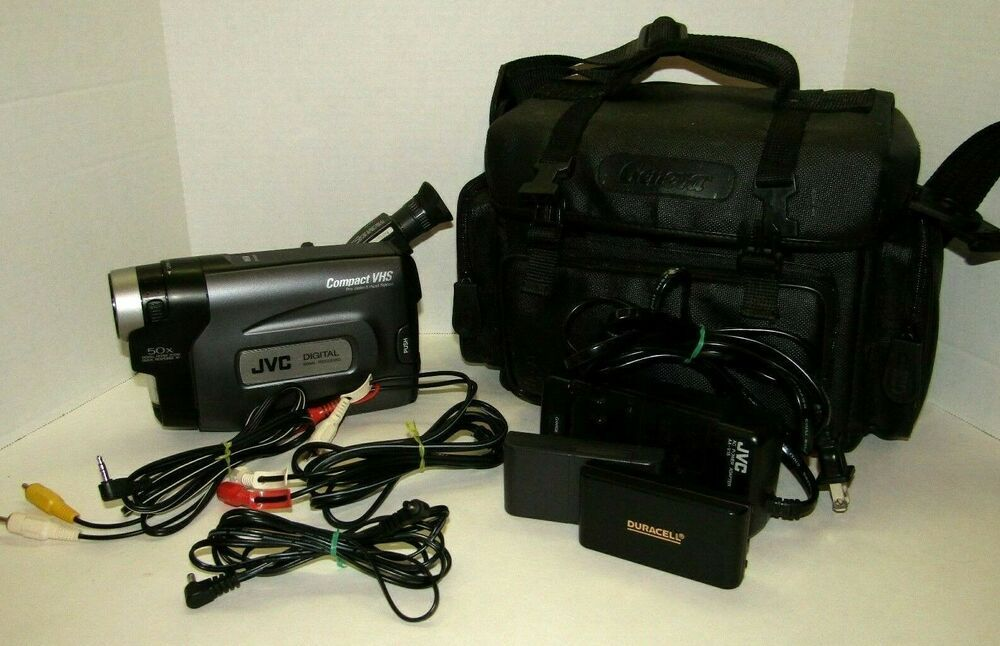 Vintage Jvc Compact Vhs Camcorder Model Gr Ax841u With Case Tested Working Jvc Camcorder Jvc Compact