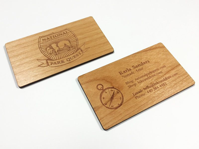 Rustic looking business cards on wood, perfect fit for that brand ...