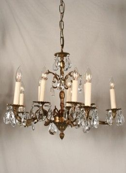 Vintage Chandelier With Spanish Castings C 1950 Restoration Lighting Gallery Antique Brass Chandelier Vintage Chandelier Vintage Crystal Chandelier