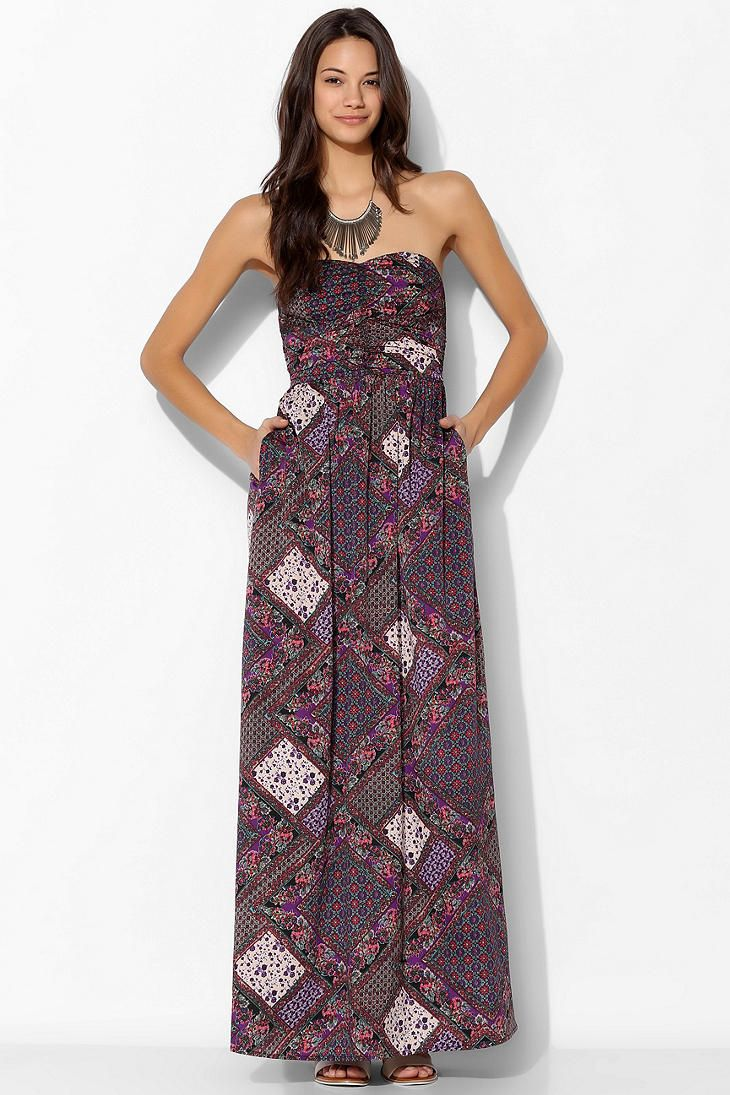 Bog Collective Strapless Ruched Front Maxi Dress Maxi Dress Dresses Strapless Maxi Dress [ 1095 x 730 Pixel ]