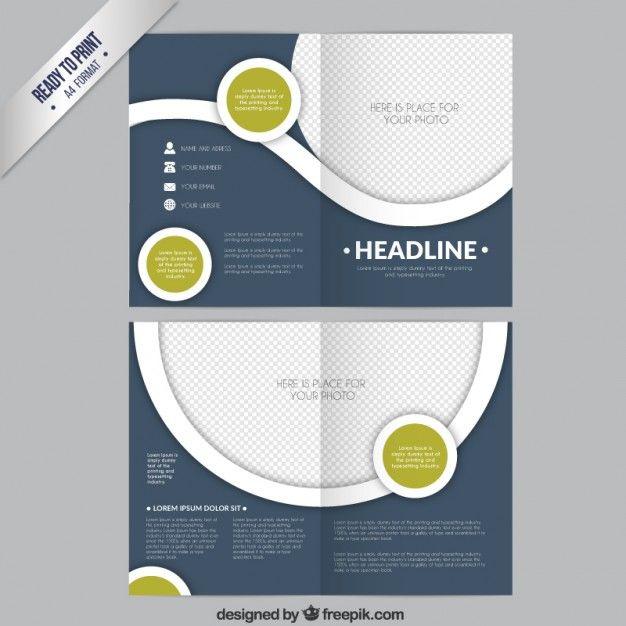 Template círculos brochura Brochure template, Flyer template and - advertising flyer templates free