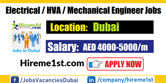 Electrical Hvac Mechanical Engineer Jobs In Dubai Jobs In Dubai 2020 Uae Careers Walk In Interview In Dubai In 2020 Executive Jobs Jobs For Freshers Dubai