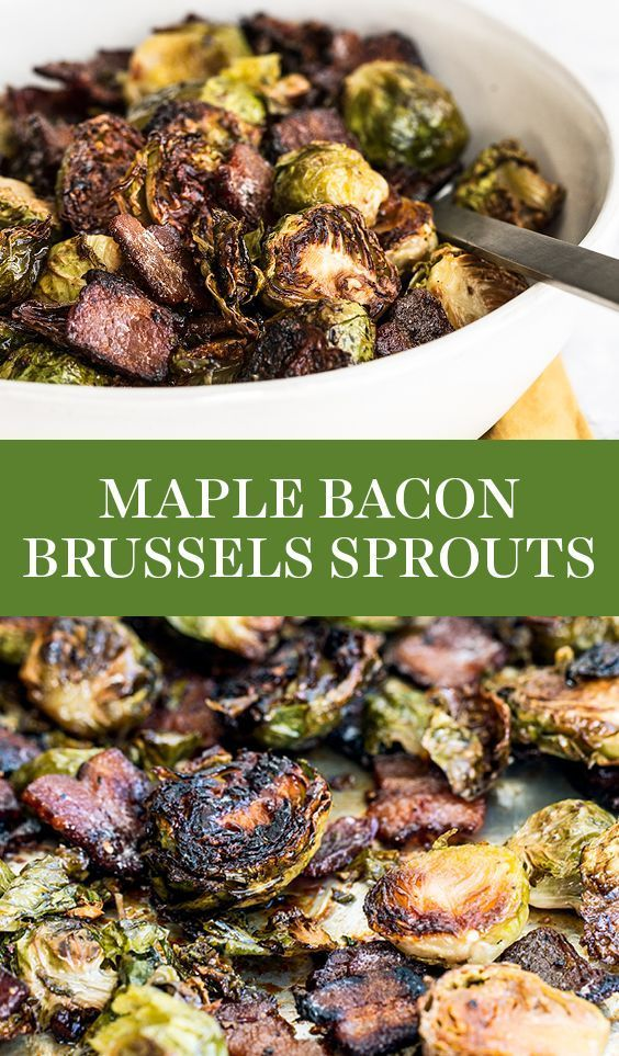 Maple Bacon Brussels Sprouts - Handle the Heat