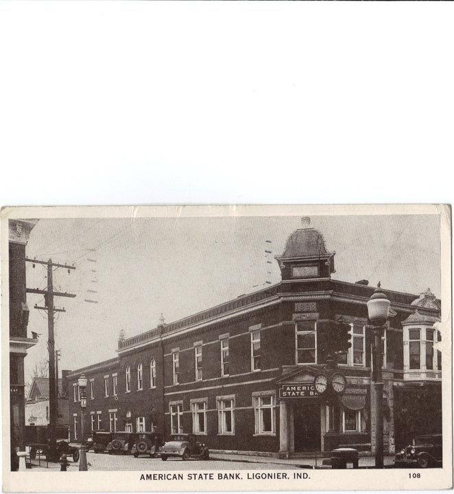 Ligonier Indiana, Strauss block   Ligonier, Wawaka, Old