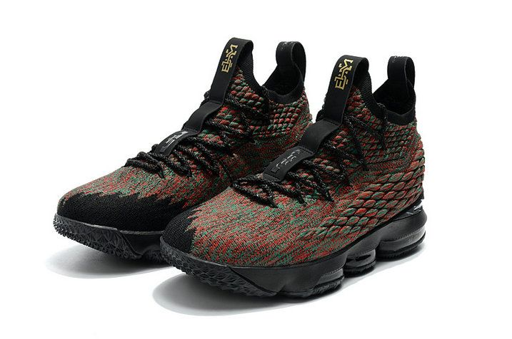 cheap for discount b271b e1108 2018 Nike LeBron 15 Mens Original Basketball Shoes BHM Multi Color