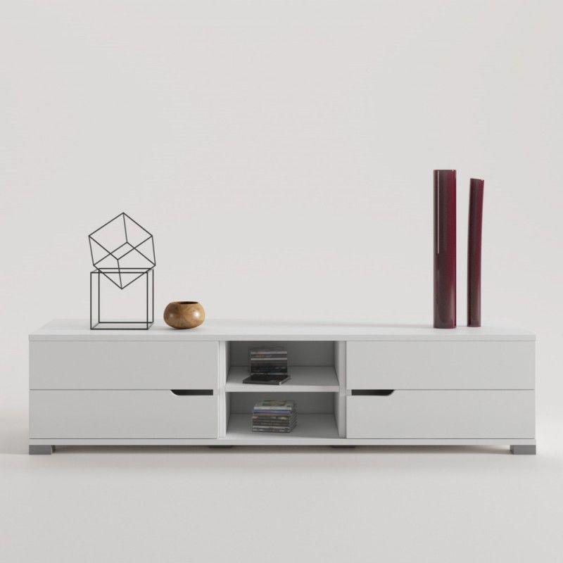 Cajonera kit Aparador Compo TV y Mueble de almacenaje de la serie Wave con base o Aparador colgado a pared