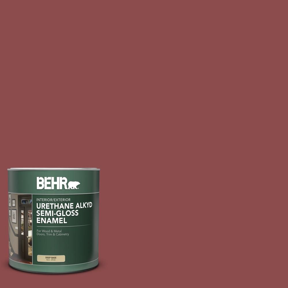 Behr 1 Qt S140 6 Moroccan Ruby Semi Gloss Enamel Urethane Alkyd Interior Exterior Paint Exterior Paint Interior Paint Behr