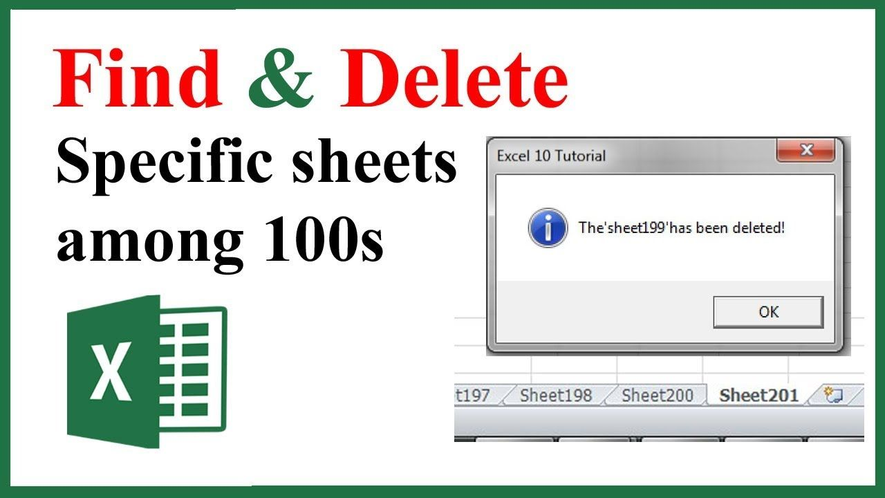 How To find and delete specific sheet if exists in workbook using