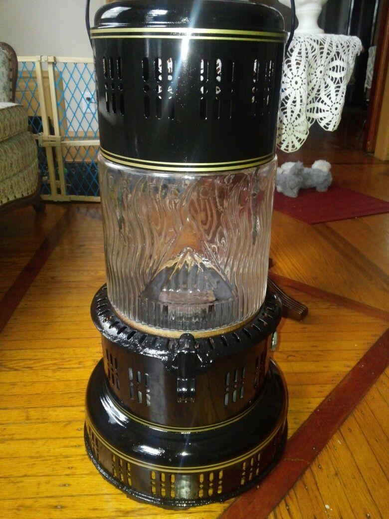 Vintage Perfection Glass Heater Model 735 Kerosene Heater Oil