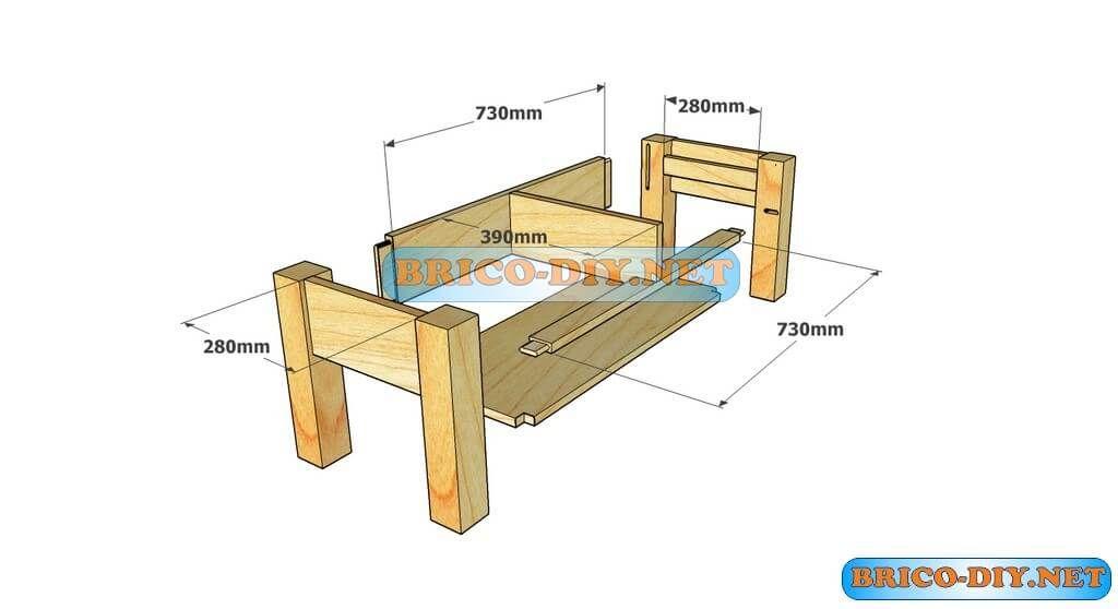 Brico web donde aprenderas bricolaje decoraci n for Planos para hacer muebles de madera paso a paso pdf