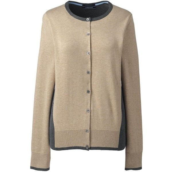 Lands' End Women's Petite Supima Cotton Cardigan Sweater (130 BGN ...