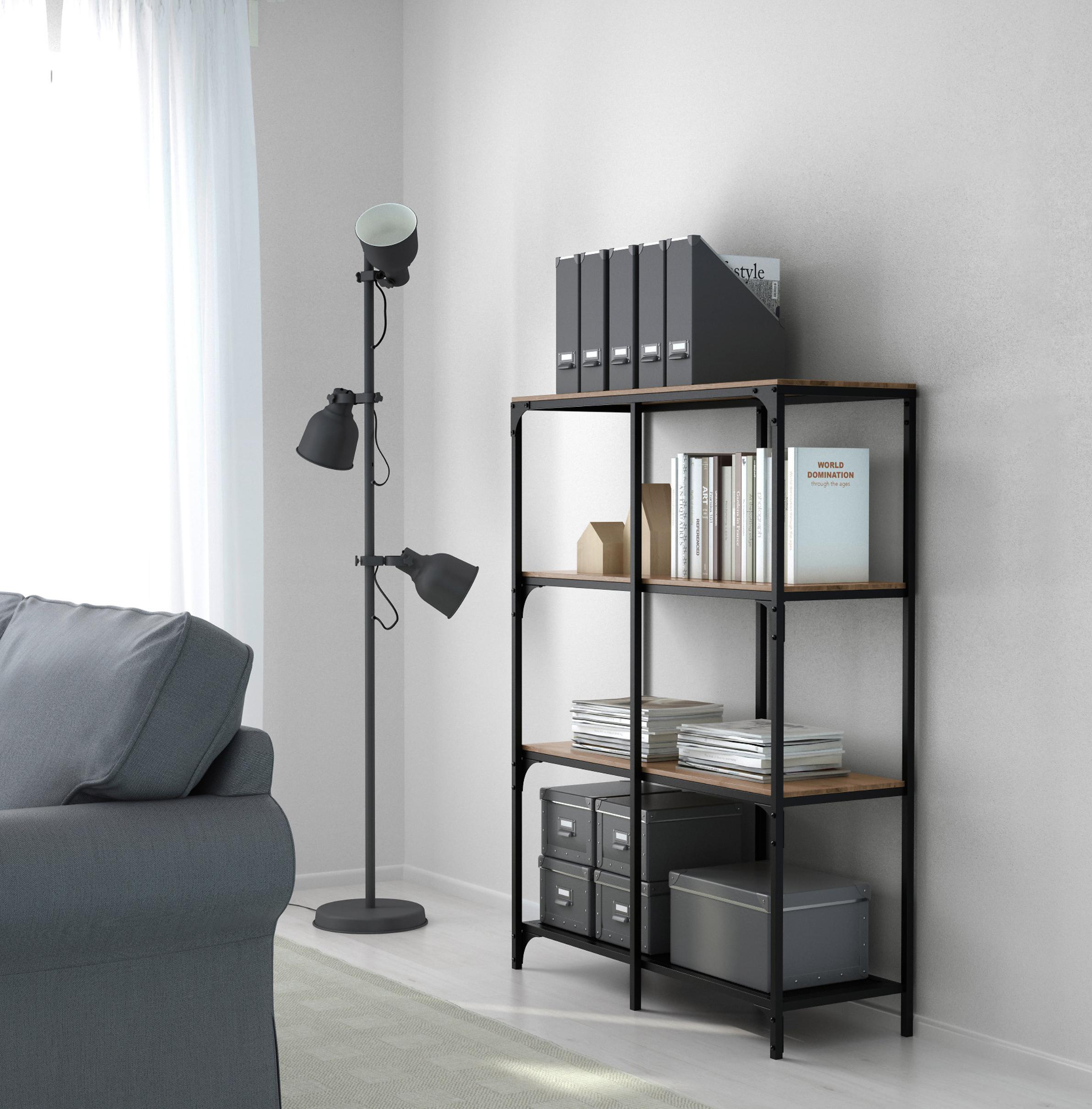 Fjallbo Shelf Unit Black 39 3 8x53 1 2 Ikea Shelving Unit Shelving Ikea