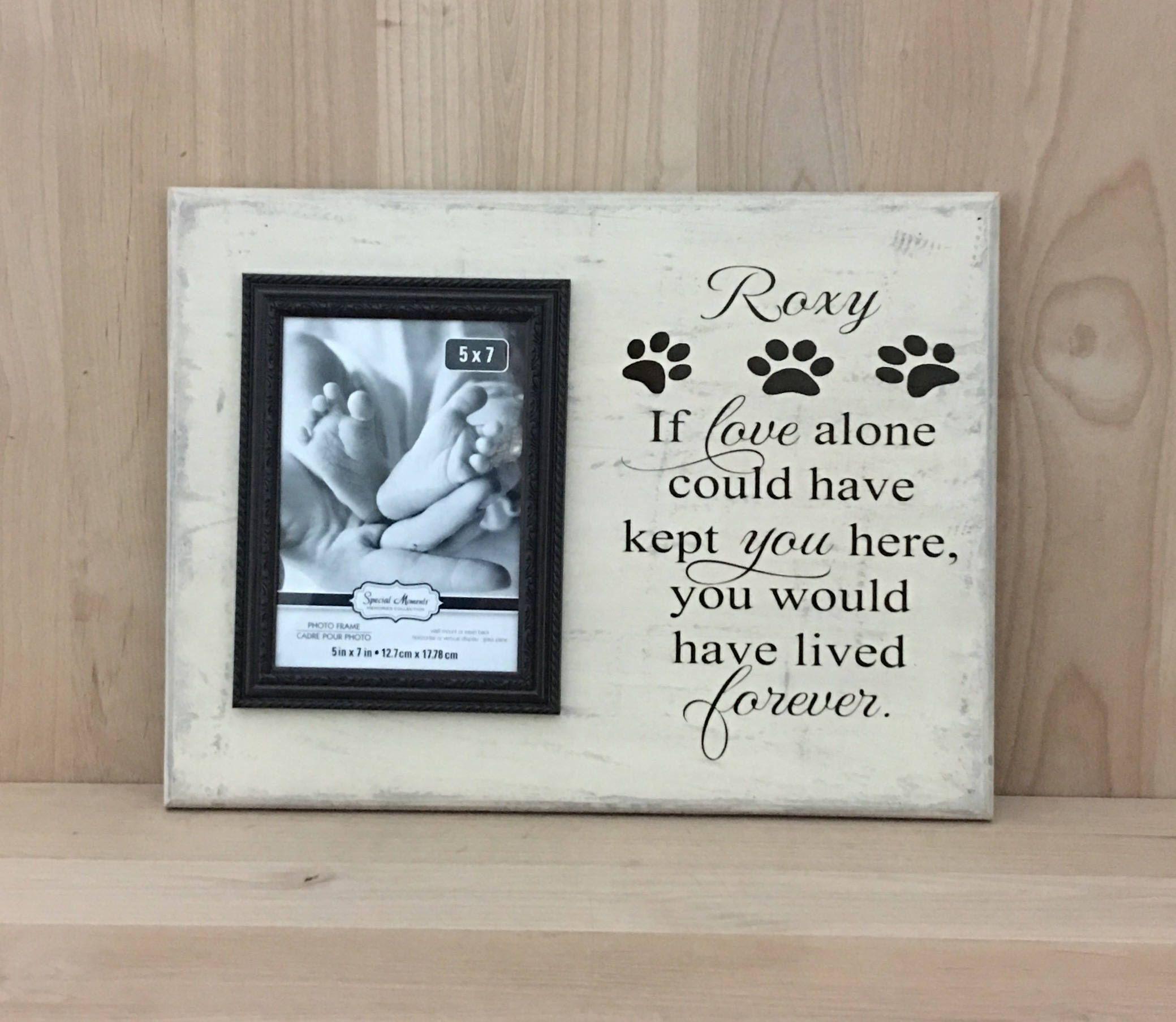 Pet sympathy gift, pet memorial frame, personalized sign, pet sign ...