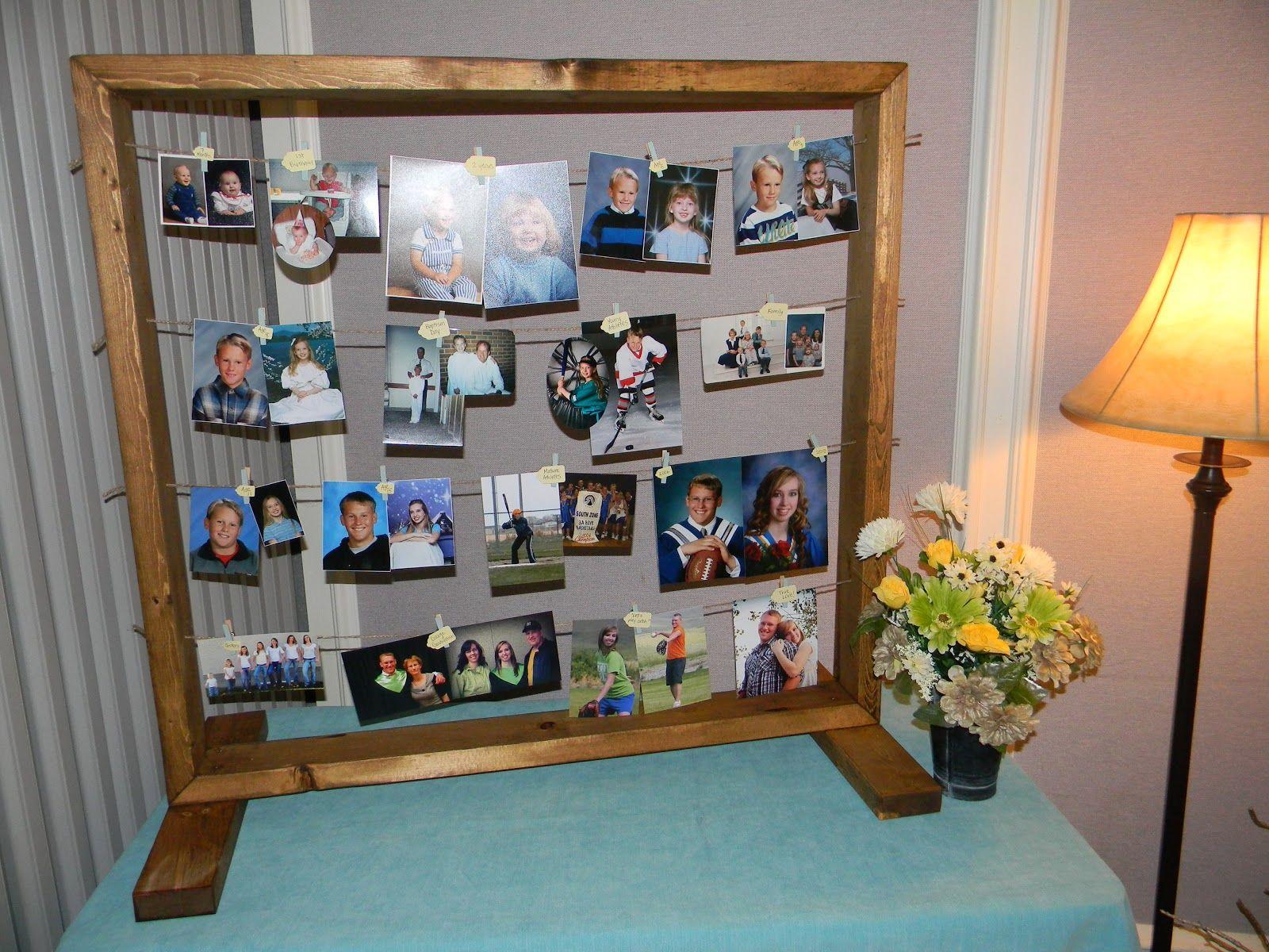 Photo Display {tutorial} for Weddings or Anniversaries.