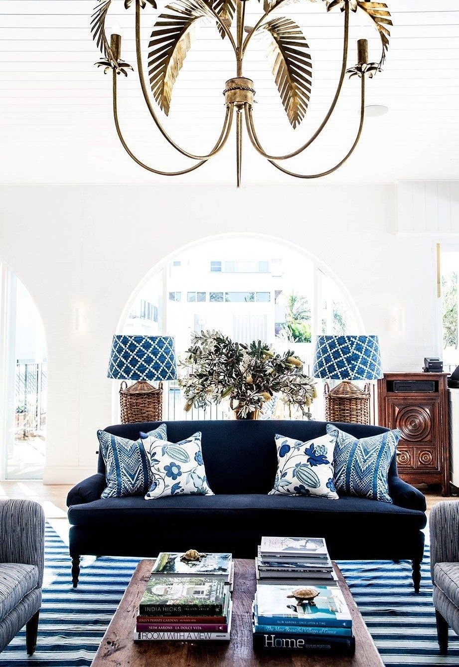 Colonial Elegant Living Room Furniture: Interior Decorating: Into The Blue Part II
