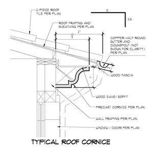Decorative Pre Cast Cornice Detail For A Spanish Style Roof Used In Spanish Style Cornice Roof