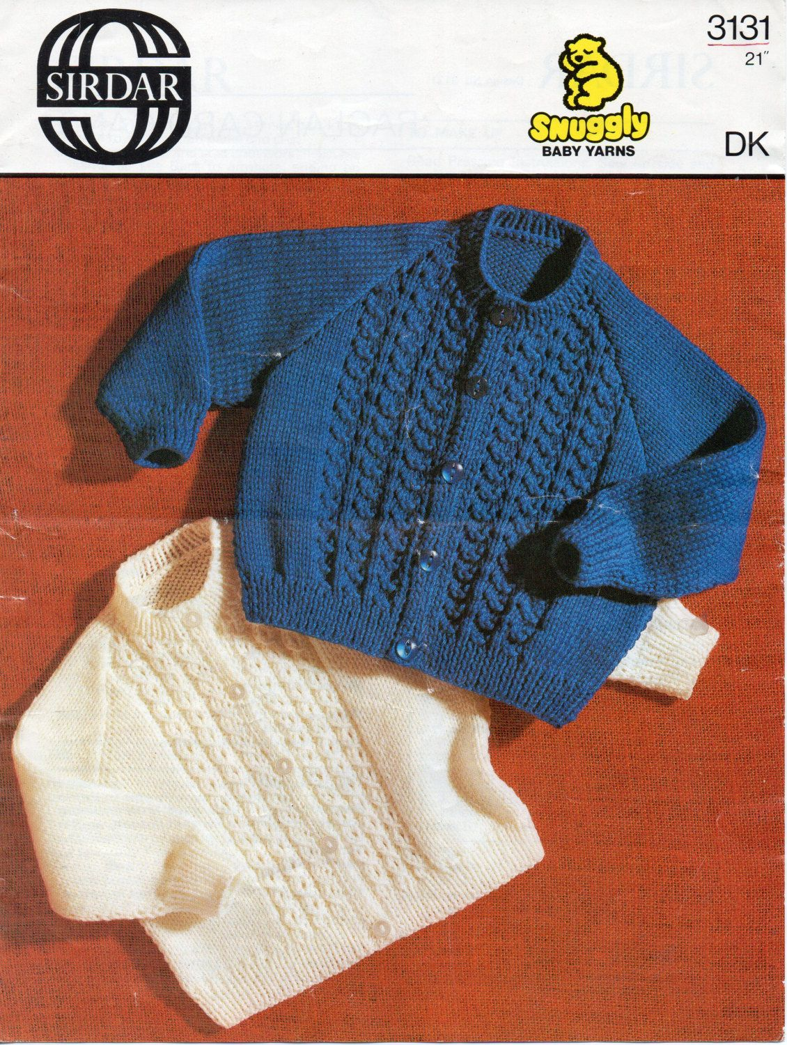 efa4f833a vintage baby cardigans knitting pattern pdf DK panel cable jackets ...