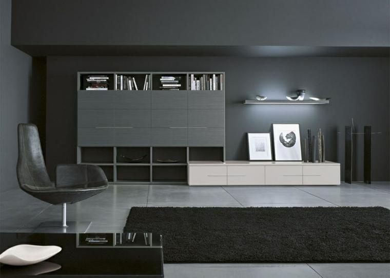 Interieurs von schwarzem Design Dekoration