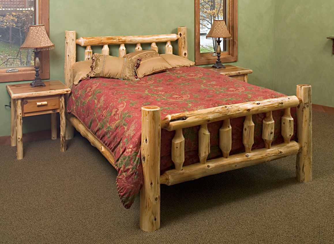 Cedar Log Bed Kits Headboard Only Frame Country