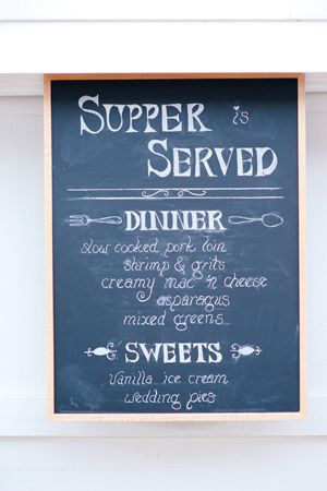 Cute Idea For A Special Occasion Or Dinner Party Chalkboard Menu