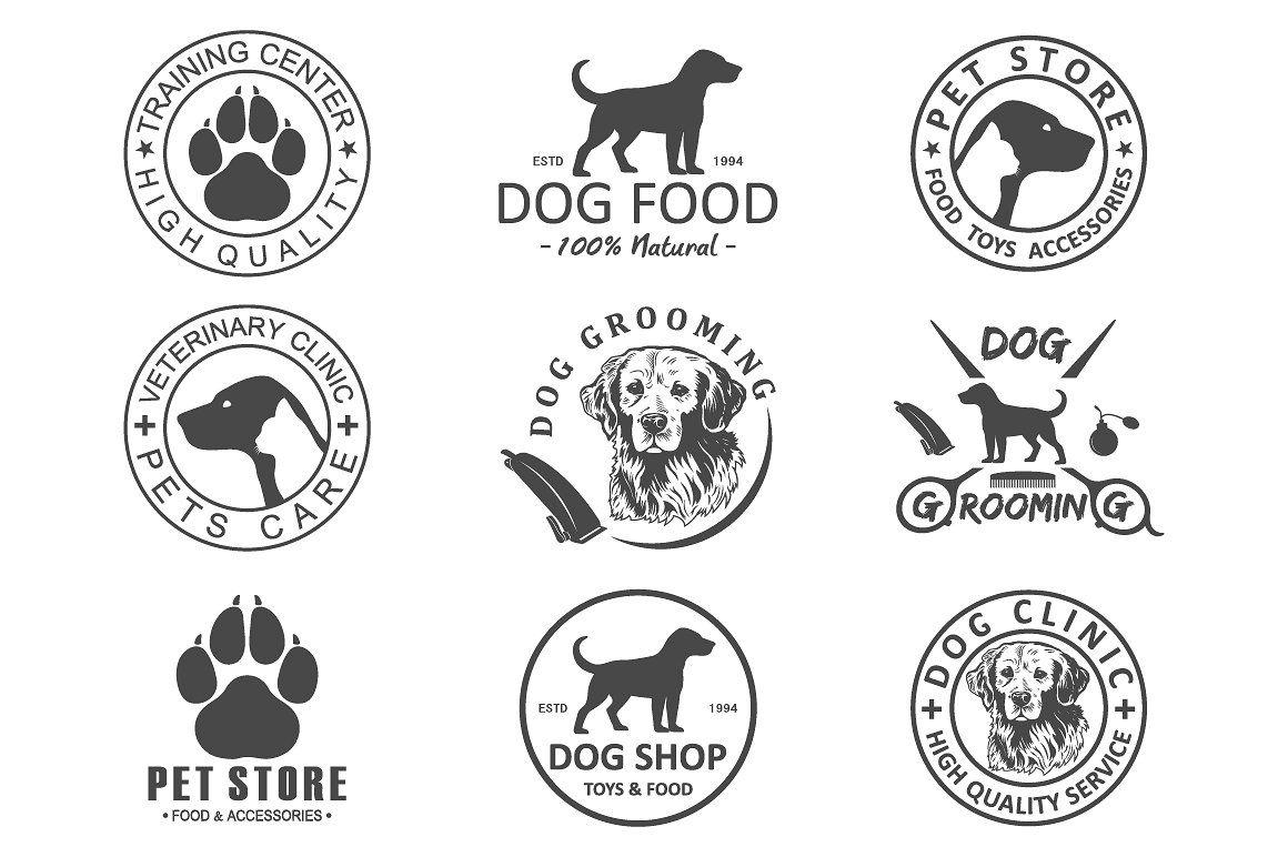 Dog Logo And Icons For Dog Club Dog Walking Logo Dog Club Dog