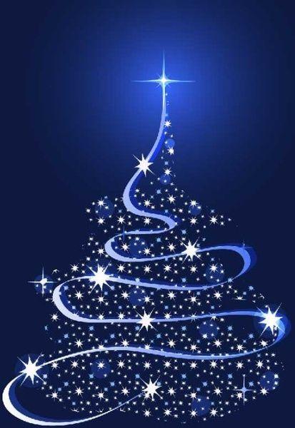 Sparkling Christmas Tree Design Vector Free Vector In Adobe Christmas Background Christmas Background Vector Christmas Tree Design