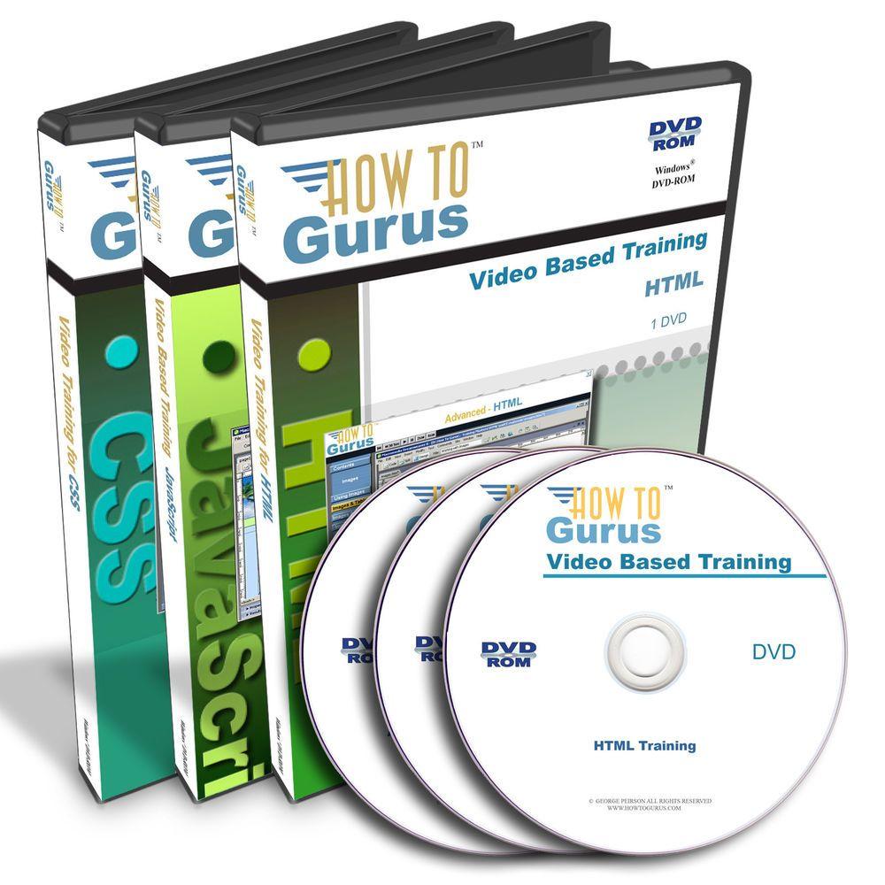 Learn Web Design Html Javascript Css Video Tutorial Training 22 Hrs On 3 Dvds Howtogurus Learn Web Design Html Javascript Web Design