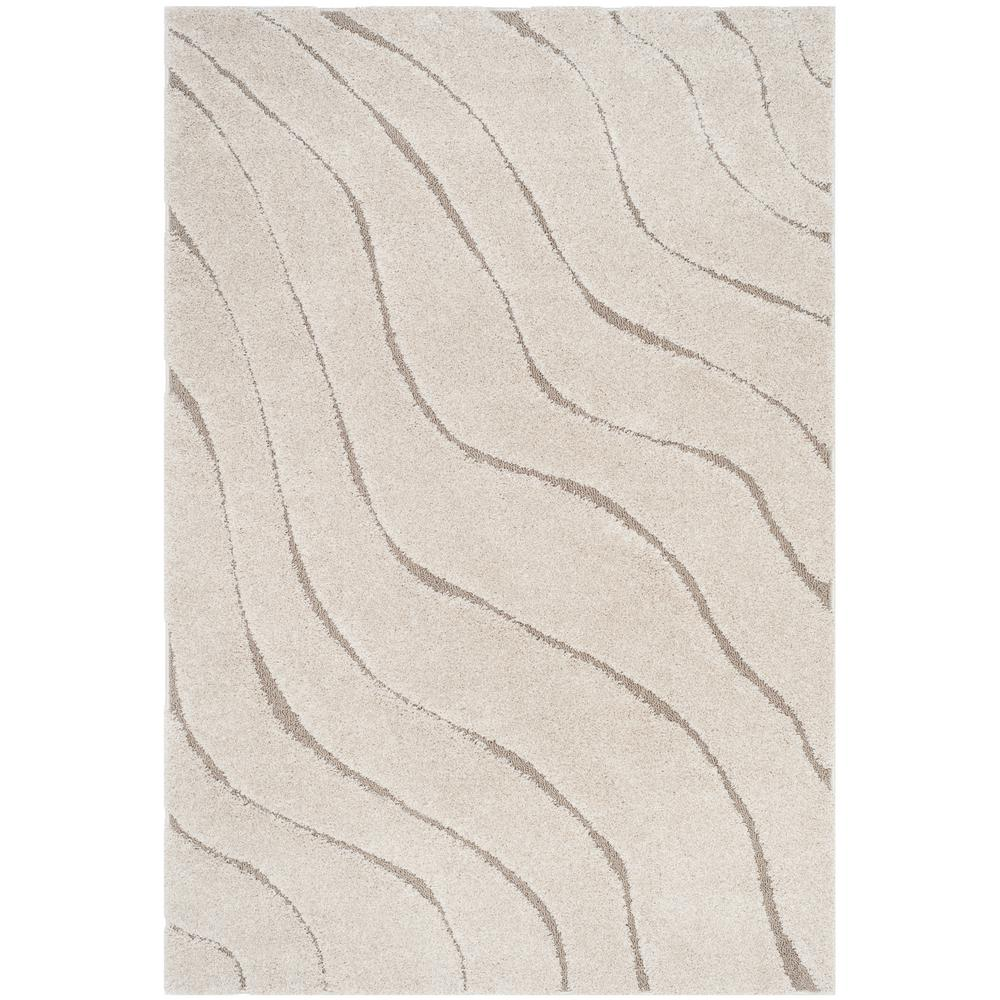 Safavieh Florida Shag Cream Beige 3 Ft 3 In X 5 Ft 3 In Area