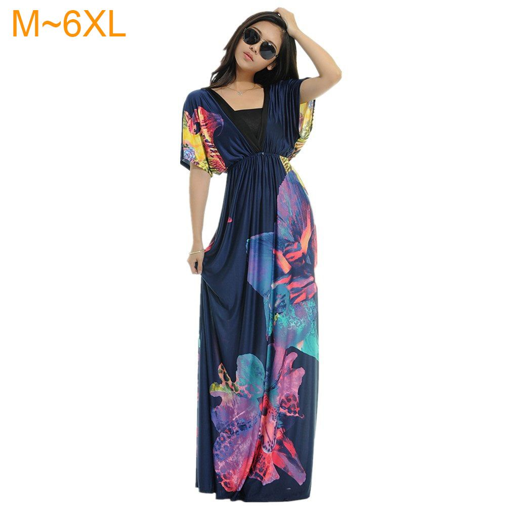 summer womens fashion summer vneck bat sleeve floral print