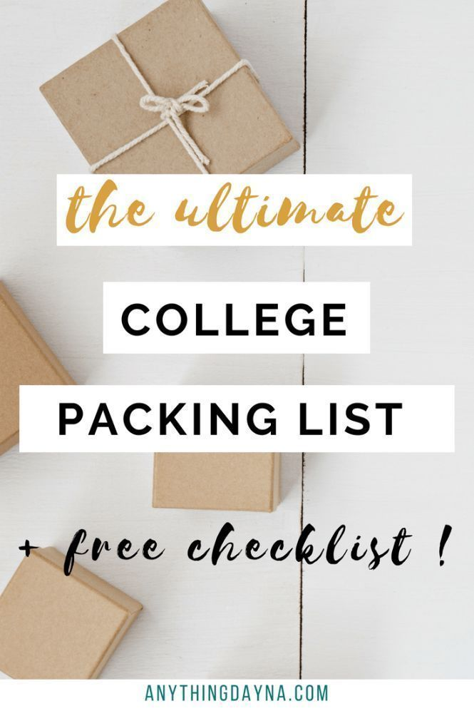 The ULTIMATE College Packing List: Everything You'll Need in College images