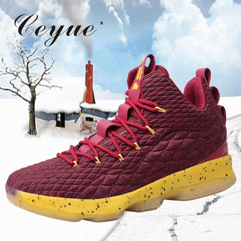 Ceyue 2019 Men Basketball Shoes Lebron James Shoes Rubber Non Slip Sports Shoes Professional Sneakers Herr Lebron James Shoes Professional Sneakers James Shoes