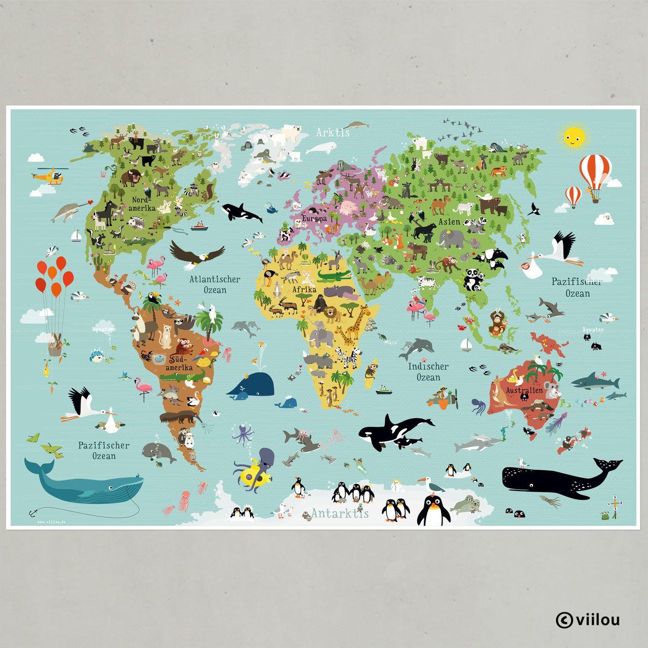 Pin Von Lill Ly Auf Kinderzimmer Mit Bildern Weltkarte Fur