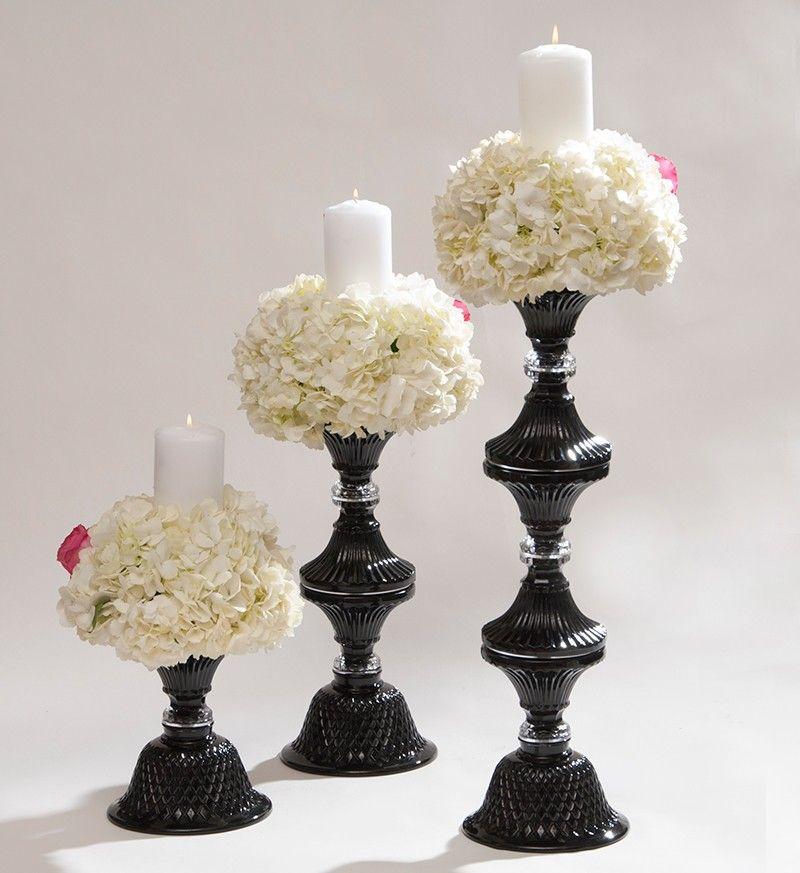 The Black Pillar Crystal Holder Interior Style Candles