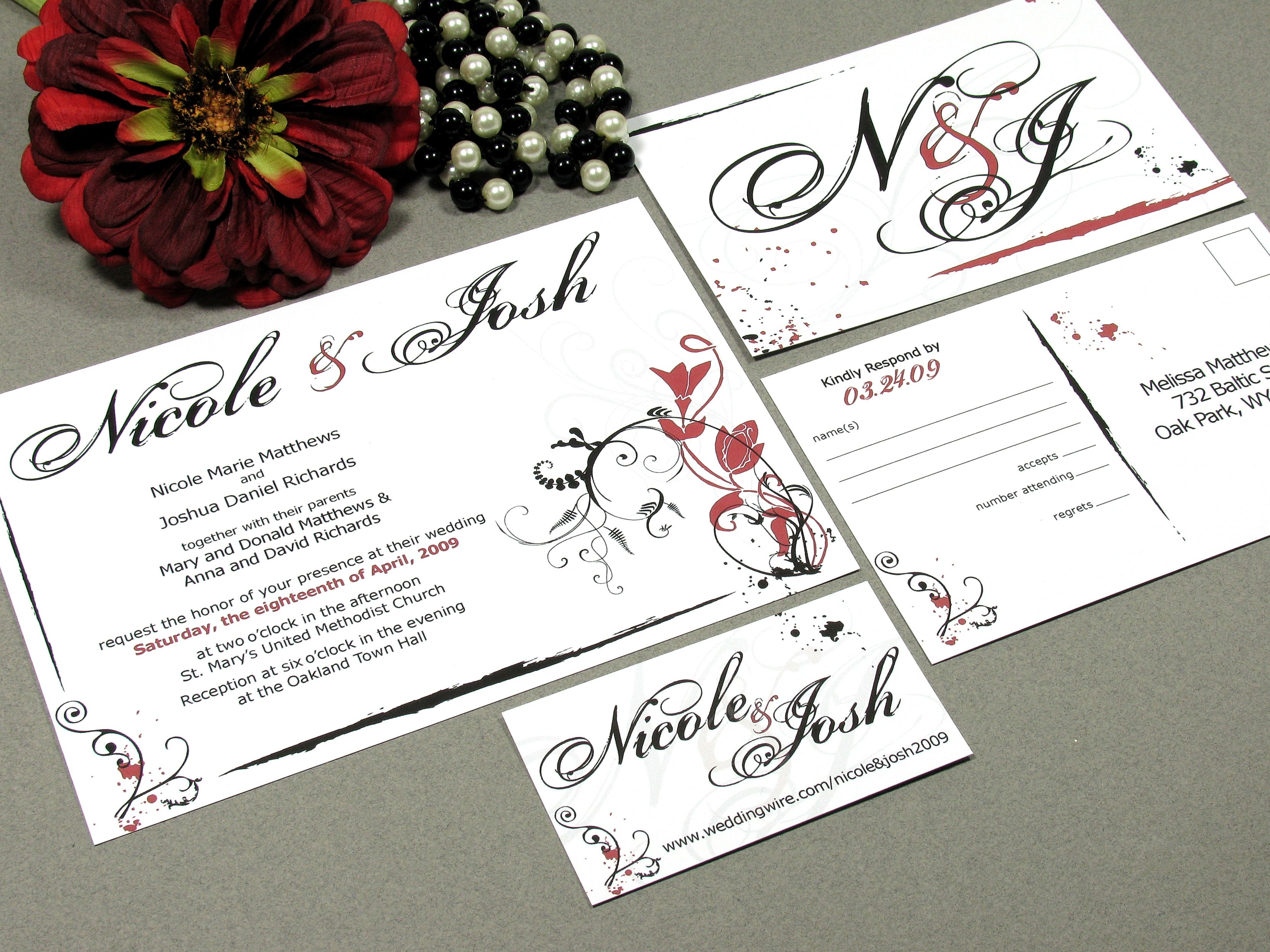 Flower Paint | Modern Wedding Invitation Suite by RunkPock Designs ...
