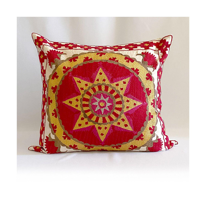 Dawn Dobbins The Vesper Cotton Suzani Pillow Jpg Suzani Pillows Throw Pillows
