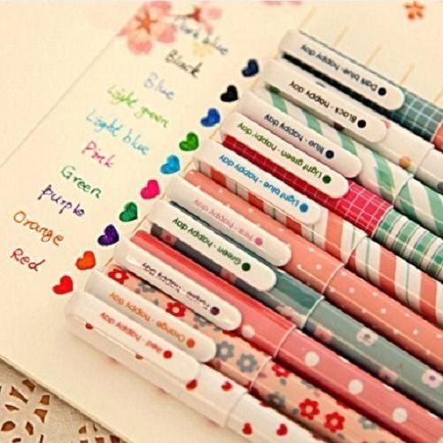 10 Pcs//Lot 6 in1 Multicolor Ballpoint Pen  Korean Stationery Gift School Supplie