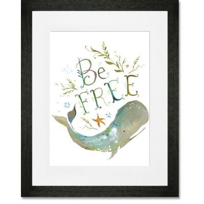 GreenBox Art 'Be Free' by Katie Daisy Framed Painting Print on Paper Size: