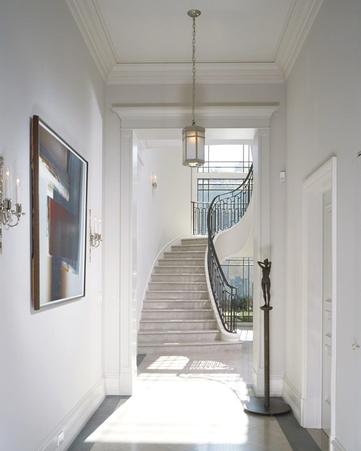 Beautiful Front Hall And Staircase: Bristol Circle Residence By William Hefner