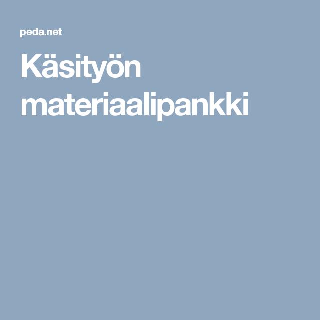 Käsityön materiaalipankki