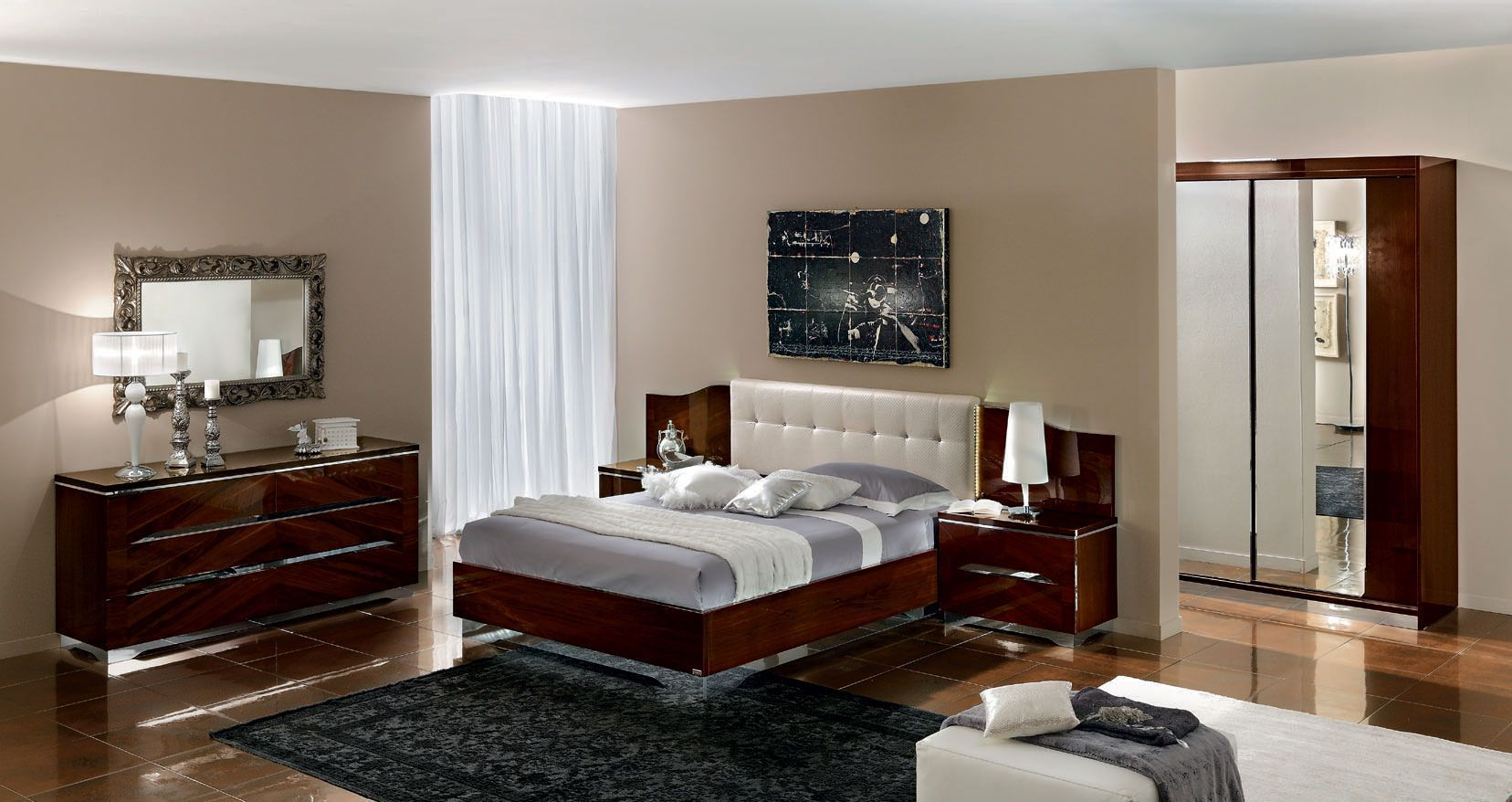 Contemporary Bedroom Furniture Designs Stunning Made In Italy Leather Modern High End Furniture Featwood Grain Decorating Design