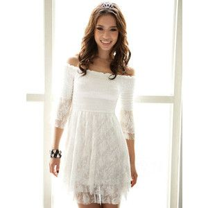 Cute Japanese Fashion - White Lace Dress - Polyvore | dresses ...