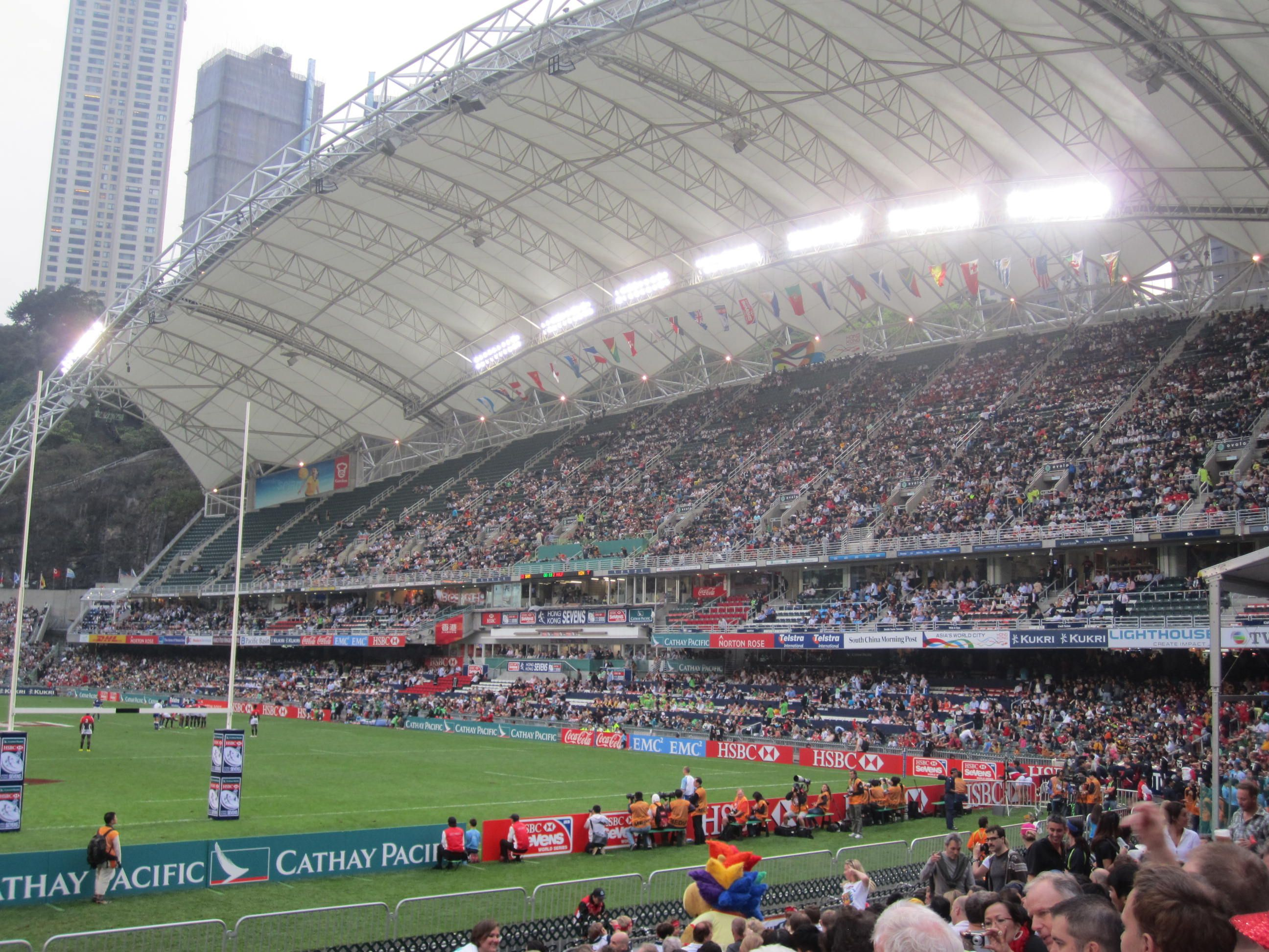 The Hong Kong Rugby Sevens Hong Kong Stadium Great Memories 1995 And 2005 Rugby Sevens Favorite Places Local Attractions